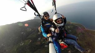 Parapente-Taormina-Tandem paragliding flight near Taormina, Sicily-1