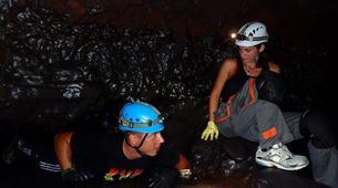 Spéléologie-Volcan Piton de la Fournaise-Spéléologie dans le Tunnel de Lave de 2004 à la Réunion-5