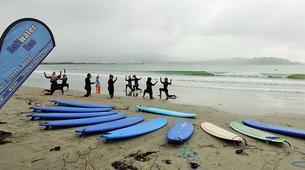 Surfing-Matakana-Beginner's surfing lessons on the Matakana coast, New Zealand-6