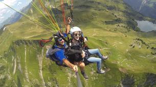 Paragliding-Oberstdorf-Tandem paragliding flight (1550 m.) in Hornerbahn near Oberstdorf-6