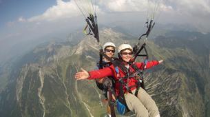 Paragliding-Oberstdorf-Tandem paragliding flight (1550 m.) in Hornerbahn near Oberstdorf-2