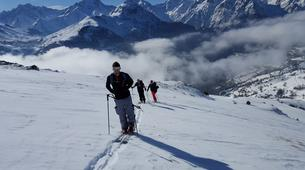 Ski touring-Alpe d'Huez Grand Domaine-Ski touring session in Grandes Rousses, Alpe d'Huez-1