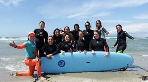 Surfing-Matakana-Beginner's surfing lessons on the Matakana coast, New Zealand-3