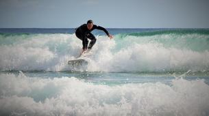Surfing-Matakana-Intermediate surfing lessons on the Matakana coast, New Zealand-3