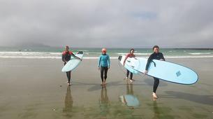 Surfing-Matakana-Intermediate surfing lessons on the Matakana coast, New Zealand-2