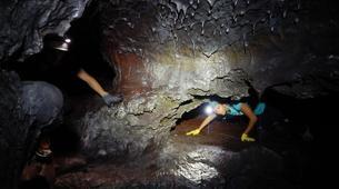 Spéléologie-Volcan Piton de la Fournaise-Spéléologie dans le Tunnel de Lave de 2004 à la Réunion-6