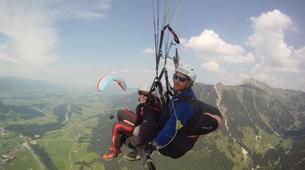 Paragliding-Oberstdorf-Tandem paragliding flight (1550 m.) in Hornerbahn near Oberstdorf-5