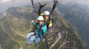 Paragliding-Oberstdorf-Tandem paragliding flight (1550 m.) in Hornerbahn near Oberstdorf-1