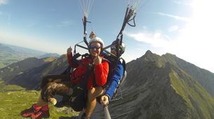 Paragliding-Oberstdorf-Tandem paragliding flight (1550 m.) in Hornerbahn near Oberstdorf-4