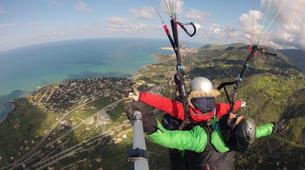 Parapente-Taormina-Tandem paragliding flight near Taormina, Sicily-2
