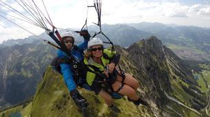 Paragliding-Oberstdorf-Tandem paragliding flight (1550 m.) in Hornerbahn near Oberstdorf-3