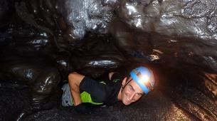 Spéléologie-Volcan Piton de la Fournaise-Spéléologie dans le Tunnel de Lave de 2004 à la Réunion-3