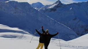 Snowshoeing-Les Arcs, Paradiski-Snowshoeing excursion in Beaufortain, near Les Arcs-2