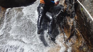 Canyoning-Cevennes National Park-Adventure canyoning down the Orgon waterfalls in Cévennes National Park-4