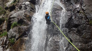 Canyoning-Cevennes National Park-Adventure canyoning down the Orgon waterfalls in Cévennes National Park-5