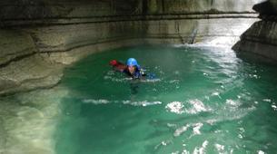 Canyoning-Trentino-Adventure canyoning through the Rio Neva and Val Noana, near Mezzano.-5