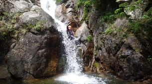Canyoning-Cevennes National Park-Adventure canyoning down the Orgon waterfalls in Cévennes National Park-2