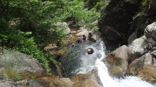 Canyoning-Cevennes National Park-Adventure canyoning down the Orgon waterfalls in Cévennes National Park-3