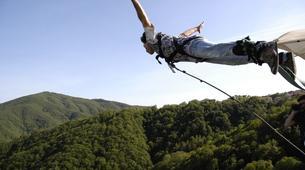 Saut à l'élastique-Milan-Bungee jumping from The Colossus bridge (152m) in Veglio Mosso, near Biella-2