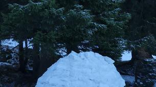 Raquette à Neige-Massif des Bauges-Randonnée Raquettes à Neige avec Nuit en Igloo à Margériaz, Massif des Bauges-6