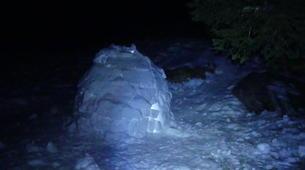 Raquette à Neige-Massif des Bauges-Randonnée Raquettes à Neige avec Nuit en Igloo à Margériaz, Massif des Bauges-4