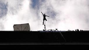 Saut à l'élastique-Milan-Bungee jumping from The Colossus bridge (152m) in Veglio Mosso, near Biella-3