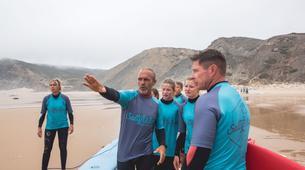 Surf-Lagos-Group surfing lessons in Praia da Luz, near Lagos-3