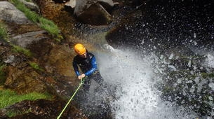 Canyoning-Cevennes National Park-Adventure canyoning down the Orgon waterfalls in Cévennes National Park-1