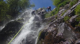 Canyoning-Cevennes National Park-Adventure canyoning down the Orgon waterfalls in Cévennes National Park-6