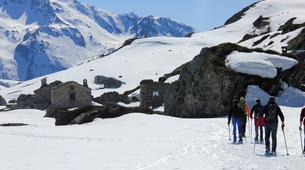 Snowshoeing-Les Arcs, Paradiski-Snowshoeing excursion in Beaufortain, near Les Arcs-3