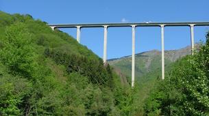 Saut à l'élastique-Milan-Bungee jumping from The Colossus bridge (152m) in Veglio Mosso, near Biella-6