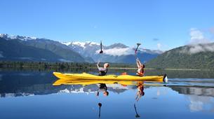 Kayaking-Franz Josef Glacier-Kayaking excursion on Lake Mapourika near Franz Josef Glacier-4