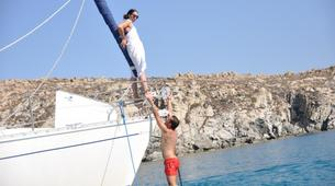 Sailing-Mykonos-Semi-Private Sailing yacht tour from Mykonos to Rhenia and Delos-4