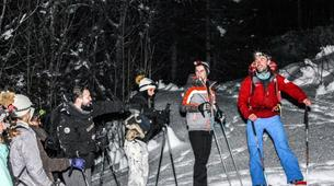Raquette à Neige-Megève, Evasion Mont Blanc-Randonnée Nocturne Raquettes à Neige à Megève-1