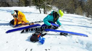 Ski touring-Risoul, La Forêt Blanche-Splitboard and ski touring day trip in Risoul - La Forêt Blanche-1