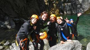 Canyoning-Aosta Valley-Chalamy Creek canyon near Champdepraz, Aosta Valley-1