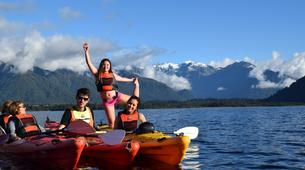 Kayaking-Franz Josef Glacier-Kayaking excursion on Lake Mapourika near Franz Josef Glacier-1