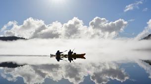 Kayaking-Franz Josef Glacier-Kayaking excursion on Lake Mapourika near Franz Josef Glacier-2