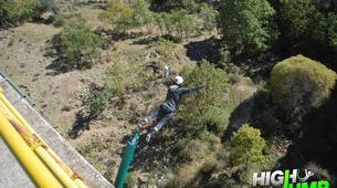 Bungee Jumping-Madrid-Bungee jumping from the Buitrago Bridge (40 m.) near Madrid-2