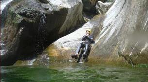 Canyoning-Aosta Valley-Chalamy Creek canyon near Champdepraz, Aosta Valley-2