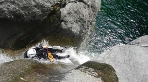 Canyoning-Aosta Valley-Chalamy Creek canyon near Champdepraz, Aosta Valley-3