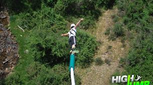 Bungee Jumping-Madrid-Bungee jumping from the Buitrago Bridge (40 m.) near Madrid-5