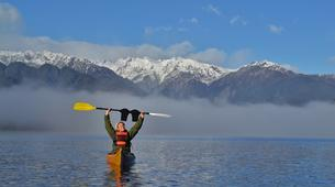 Kayaking-Franz Josef Glacier-Guided kayak and hike excursion to Okarito Kiwi Sanctuary, near Franz Josef Glacier-1