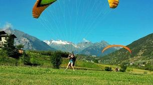 Paragliding-Aosta Valley-Tandem paragliding in Pila, Valle d'Aosta-4