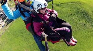 Paragliding-Aosta Valley-Tandem paragliding in Pila, Valle d'Aosta-2