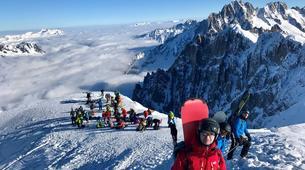 Backcountry Skiing-Chamonix Mont-Blanc-Vallée Blanche downhill skiing in Chamonix-5