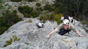 Rock climbing-Ariege-Guided multi-pitch climbing in the Ax Valley, Ariege-2