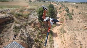 Bungee Jumping-Alicante-Rope swinging in Villena (35m) near Alicante-5