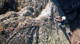 Rock climbing-Ariege-Cliff climbing initiation in the Ax Valley, Ariege-1