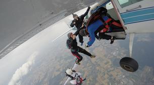 Parachutisme-Stuttgart-Tandem skydive over Schwabisch Hall near Stuttgart-1